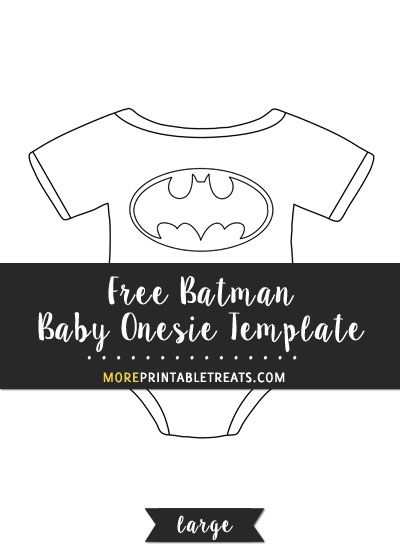 Free Batman Baby Onesie Template  Large  Shapes And Templates