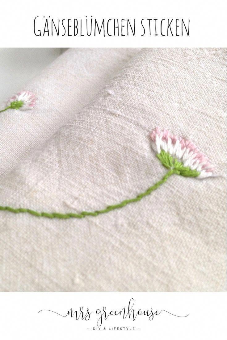 Photo of Gestickte Gänseblümchen – 10 Minuten DIY | Mrs Greenhouse – DIY Blog mit kreativen Anleitungen zum Selbermachen