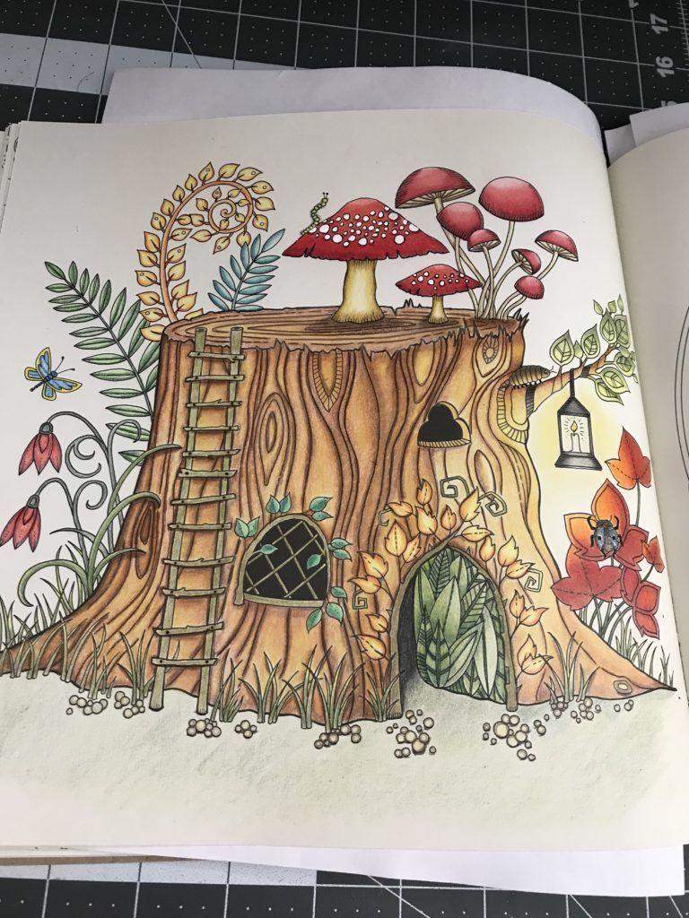Johanna Basford S Enchanted Forest Tree Stump Enchanted Forest Coloring Book Johanna Basford Enchanted Forest Coloring Book Enchanted Forest Coloring