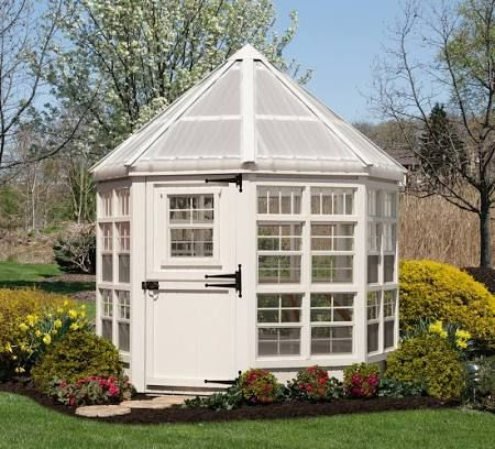 Little Cottage Company 8x8 Octagon Greenhouse 8x8 Lcog Wpnk Home Greenhouse Wooden Greenhouses Greenhouse