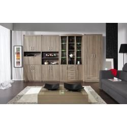 Reduced furniture  Living room wall A Kontich color Steinersteiner oak truffle
