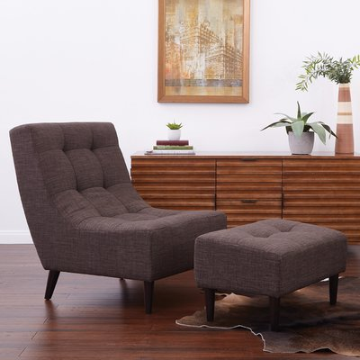 George Oliver Finnerty Lounge Chair Upholstery: Taupe in