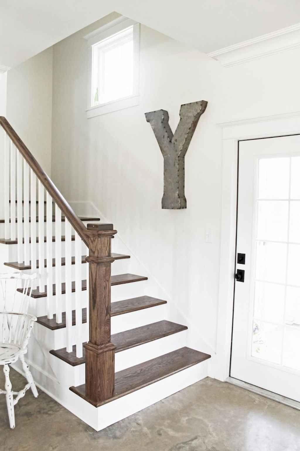 80 Modern Farmhouse Staircase Decor Ideas (74) – LivingMarch.com