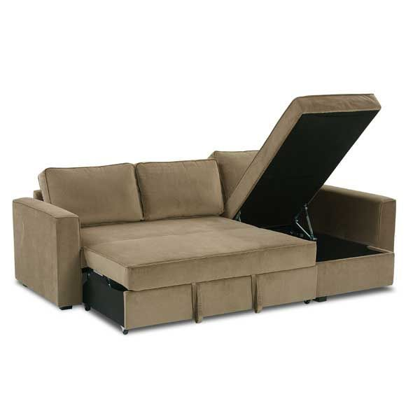Rue 2PC Sectional With Pull Out Bed 1K 681 2PC