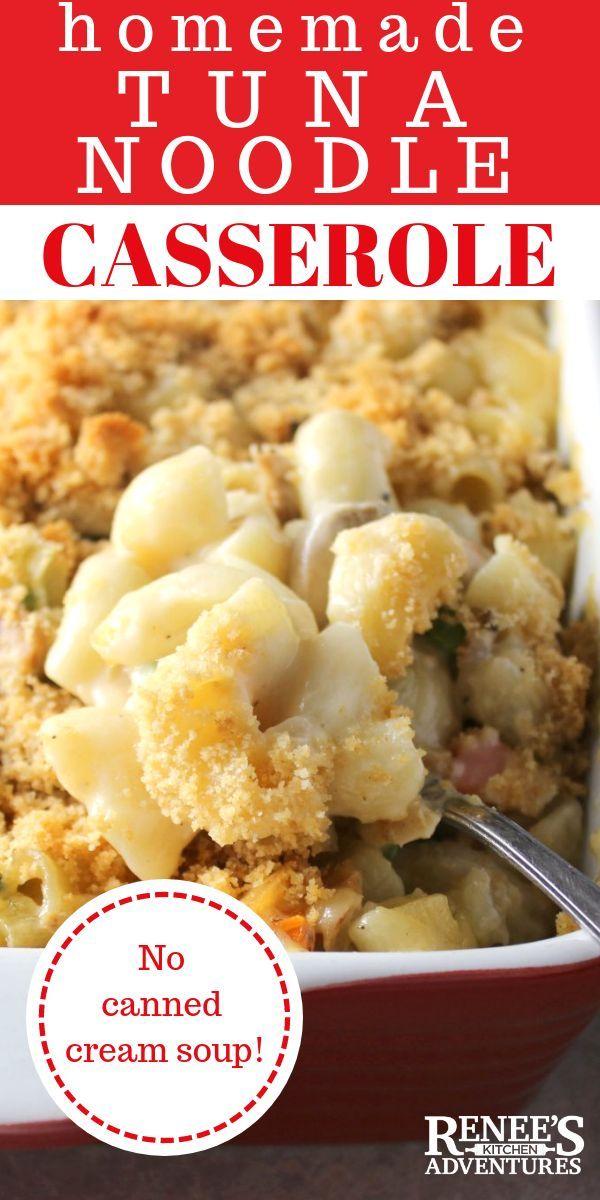 lighter cheesy tuna noodle casserole (without canned cream