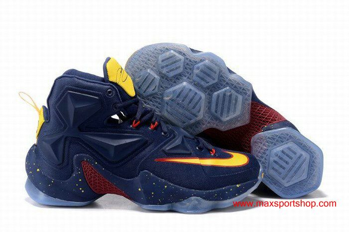 online retailer dad29 08d24 denmark 2016 nike lebron 13 dark blue yellow dots red knight navy limited  basketball shoes a1fca