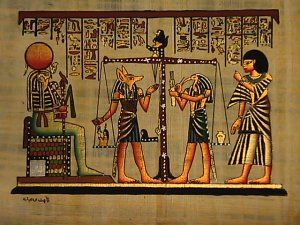 Egyptian Papyrus Weighing Of The Heart Ra Anubis Thoth