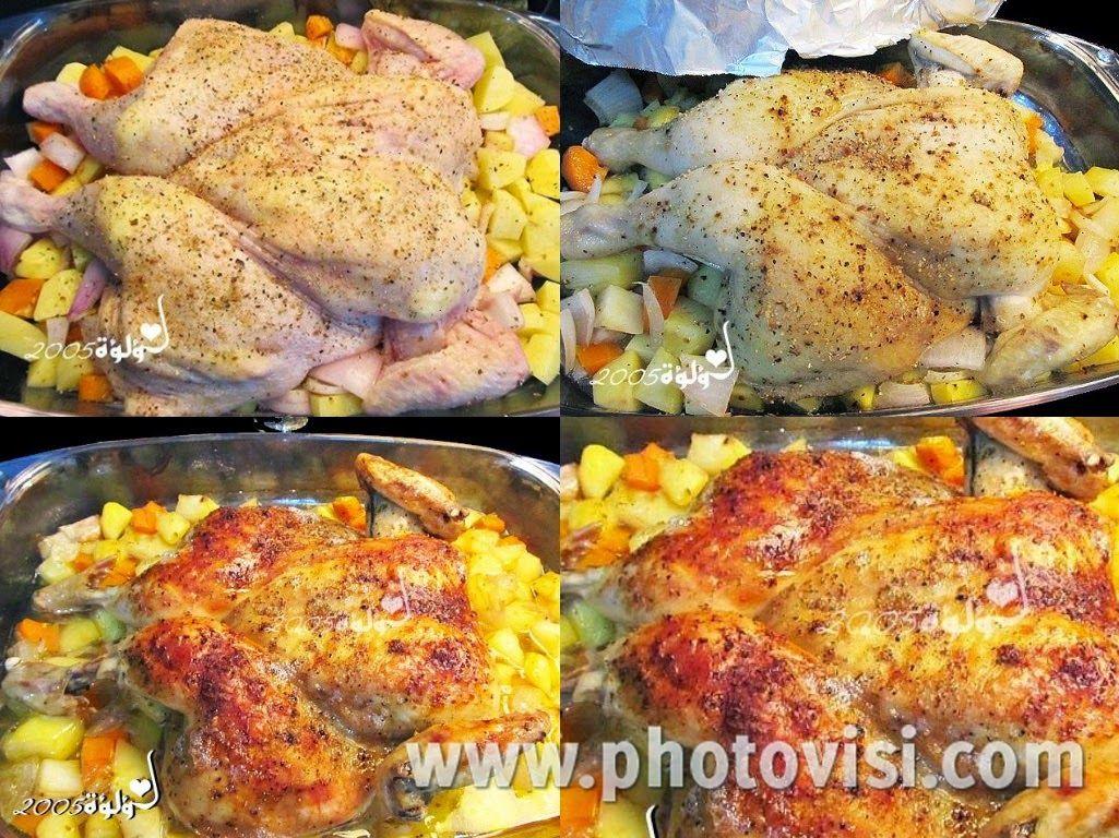 عالم الطبخ والجمال طريقة عمل دجاج روستو بالفرن بالزبدة Chicken Food Meat