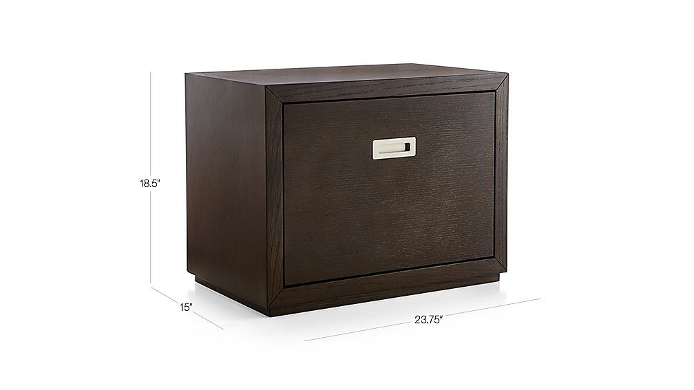 Image With Dimension For Aspect Coffee 23 75 Modular Low File Cabinet Filing Cabinet Cabinet Crate And Barrel