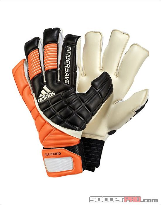helicóptero cerca Aburrir  adidas Fingersave Allround Goalkeeper Glove - Black with Warning and White  $107.99 | Adidas, Goleiro, Luvas