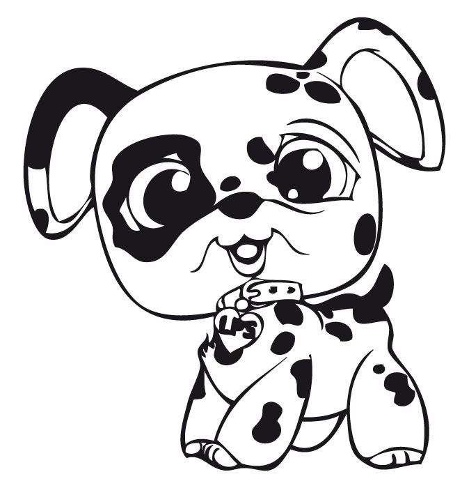 littlest pet shop spotted dog - Littlest Pet Shop Coloring Pages