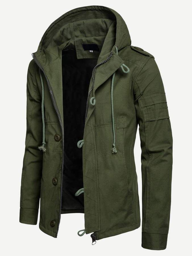Korean Style Mens Winter Long Jackets And Coats Hoodie Solid Warm Parkas Coat Zipper Thick Men Clothes 2018 Durable Service Parkas