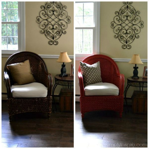 How To Paint Wicker Furniture With A Brush Chair Makeover Behr Ad Do It Yourself Today Painting Painted
