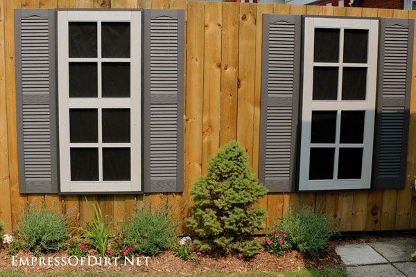 Dress Up a Fence with Faux Windows and Doors Paint Pinterest