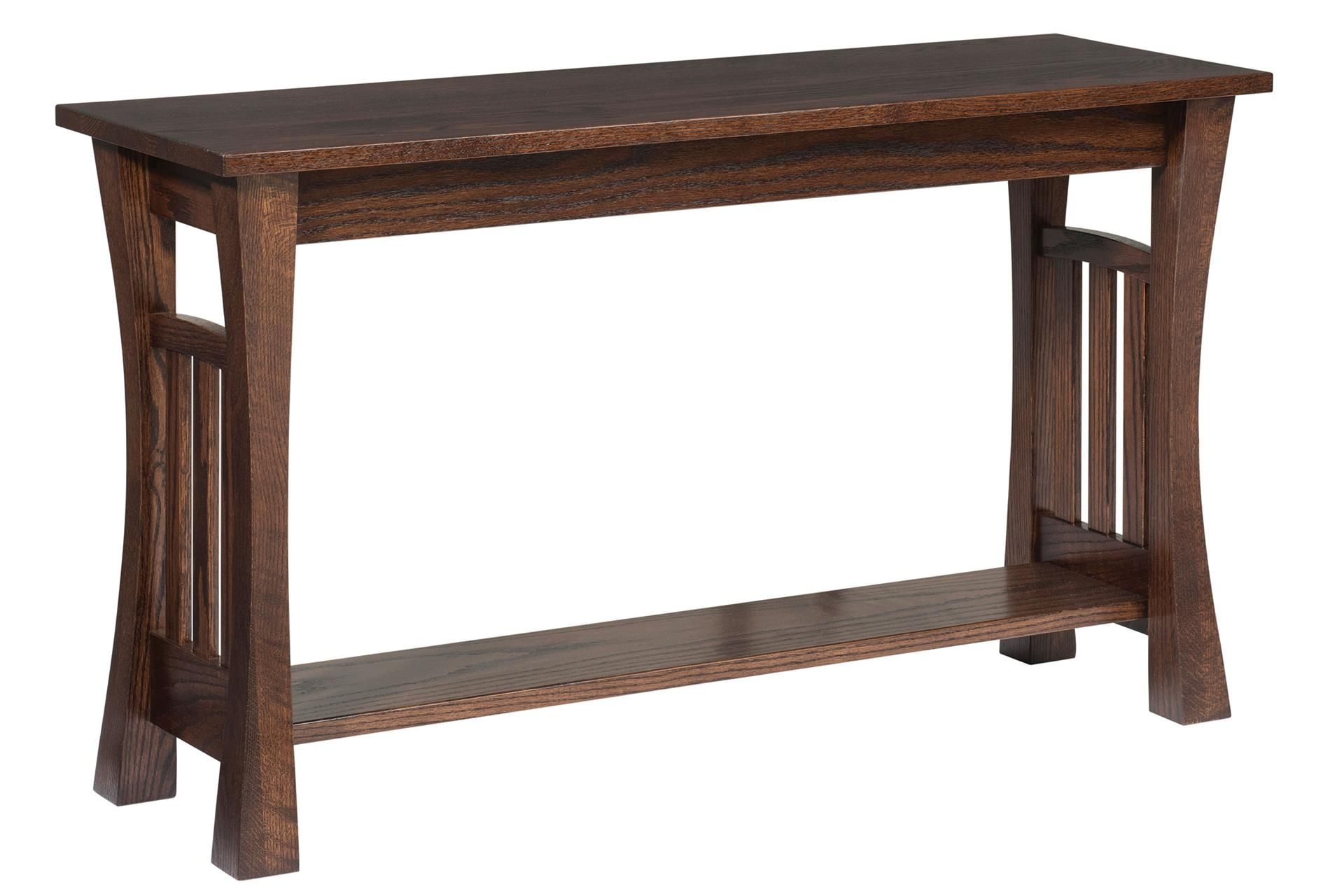 Amish Gateway Sofa Table The Amish Gateway Sofa Table Brings A Solid Wood Beauty To The Living Room Or Hallway Sha Shaker Style Furniture Sofa Table Furniture