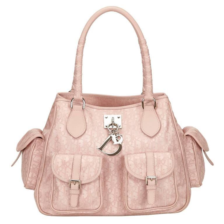 Dior Pink Jacquard Diorissimo Lovely Shoulder Bag  1ba4cffe9ff54