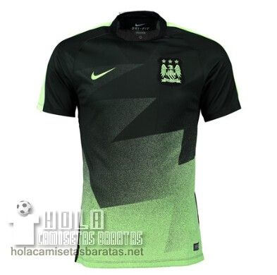 f92e40bbbb2b0 Camiseta Entrenamiento Verde Manchester City 2015-16 €20.9 ...