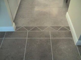 Ideas On How To Transition From One Color Ceramic Tile To