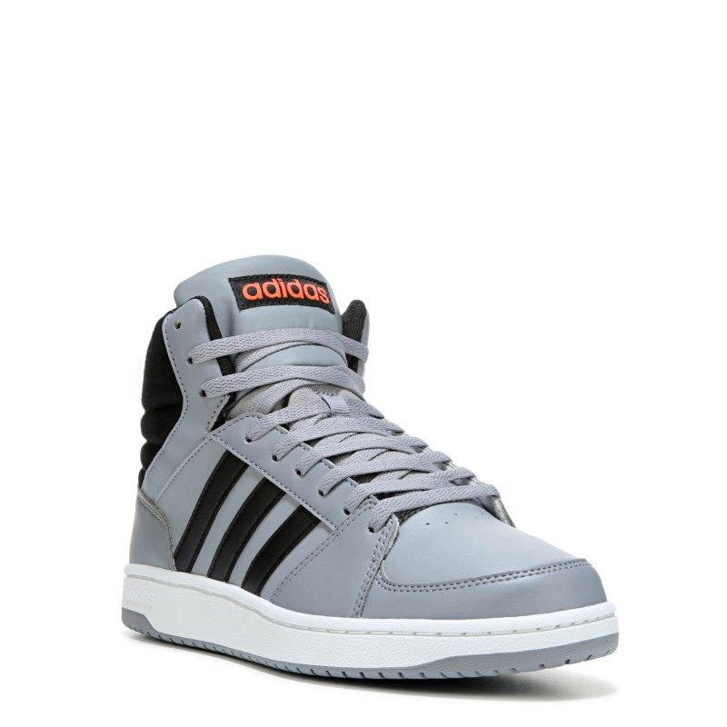 watch 06d92 fd3ee Adidas Mens Neo VS Hoops Mid Top Sneakers (GreyBlackRed) - 10.5 M
