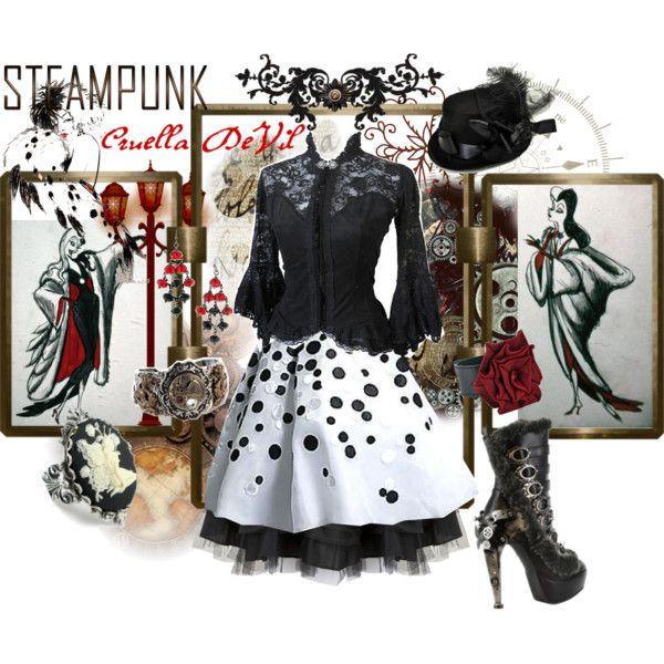 """Steampunk: Cruella DeVil"" by ghsdrummajor on Polyvore"