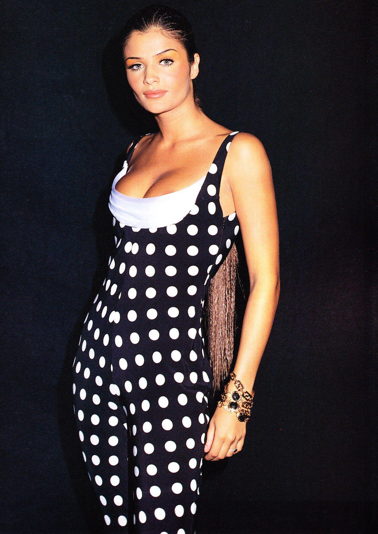 Helena Christensen for Versace.