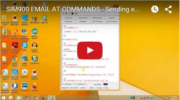 SIM900 GPRS EMAIL AT Commands | Arduino-Esp-GPRS | Pinterest ...