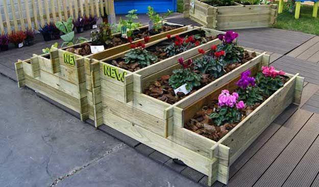 Huerto urbano en cajas decoraci n casa campo pinterest - Huerto con palets ...