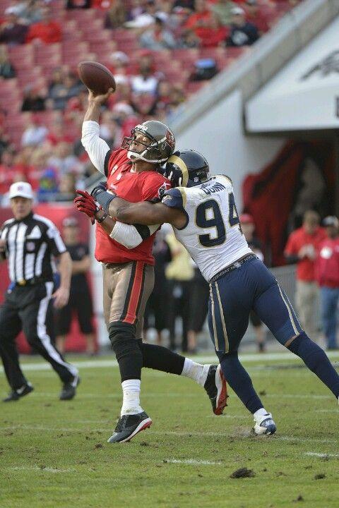 Rams Take Aim At Sack Title Rams Football Football Helmets Nfl Football