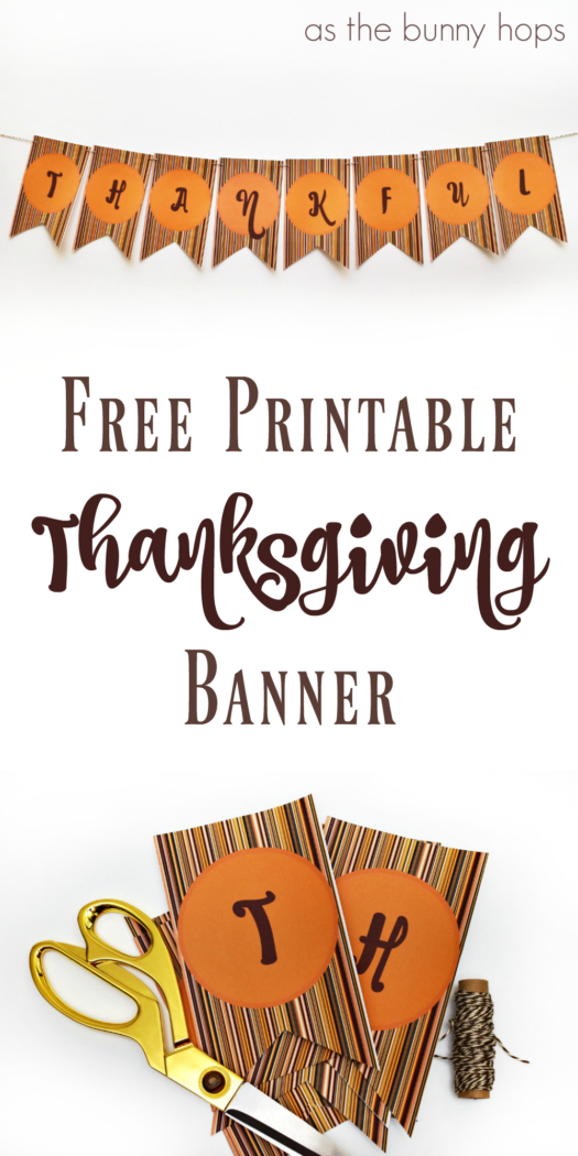 picture regarding Printable Thanksgiving Banner identified as thanksgiving-grateful-banner-printable Cost-free Printables
