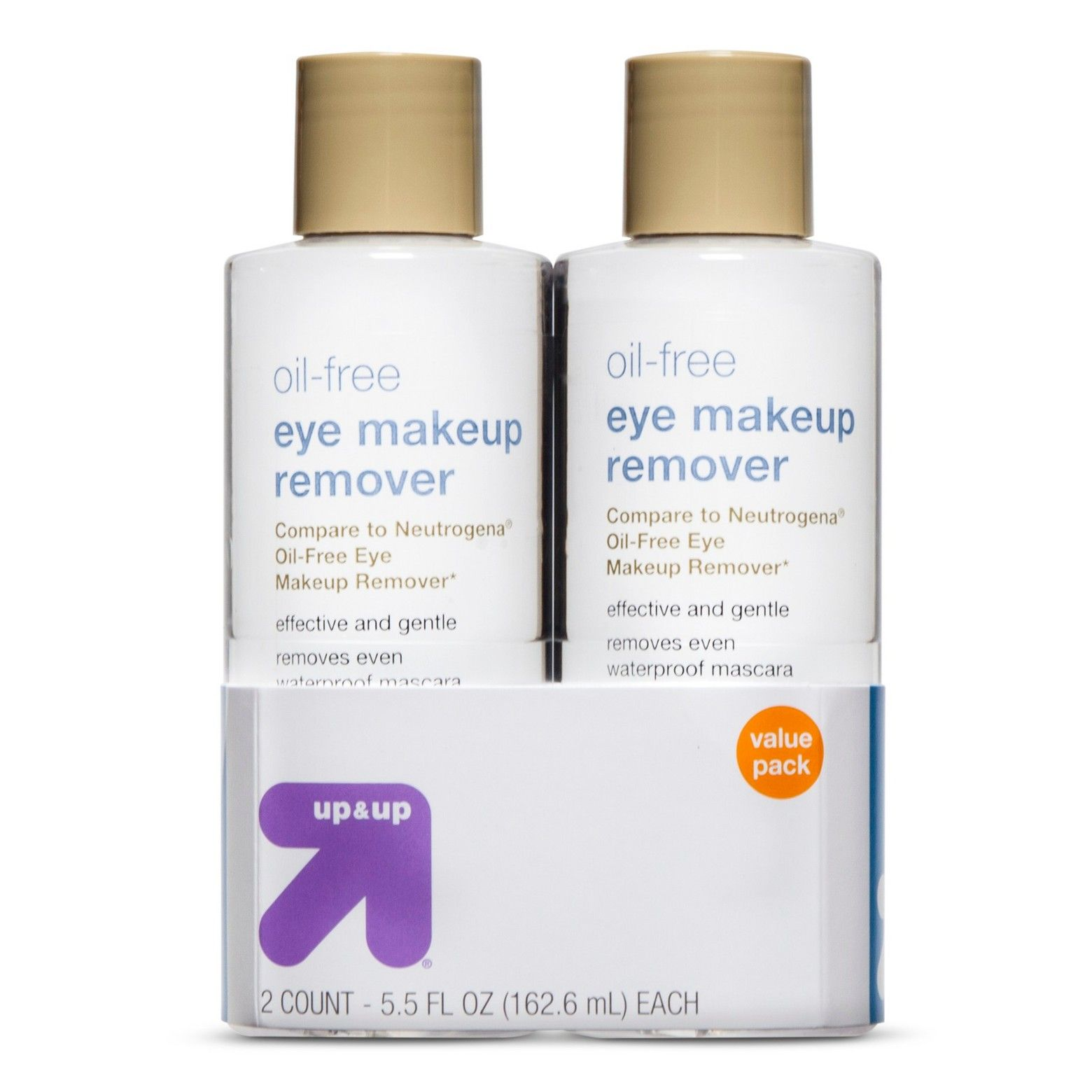 Makeup Remover 5.5oz 2pk Up&Up™ Oil free makeup
