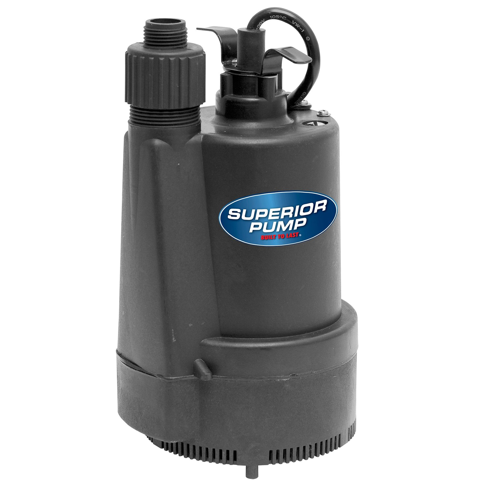 Superior Pump 91330 1 3 Hp Thermoplastic Utility Pump With Garden