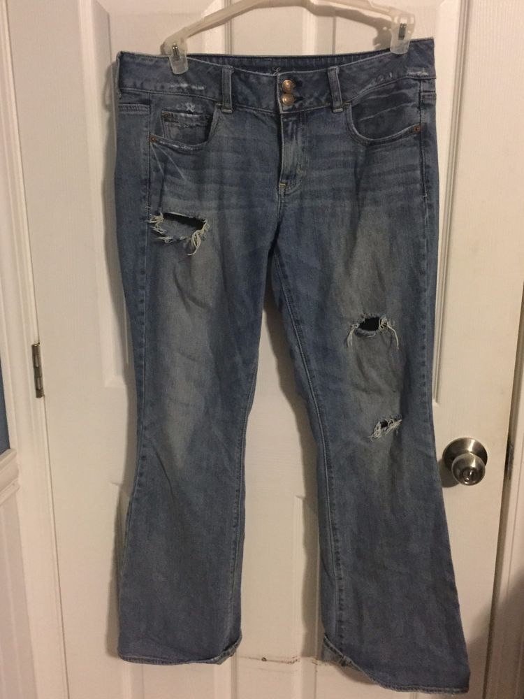 """American Eagle Size 12 Jeans Artist Style Distressed Inseam 31"""" #AmericanEagleOutfitters #Artist"""