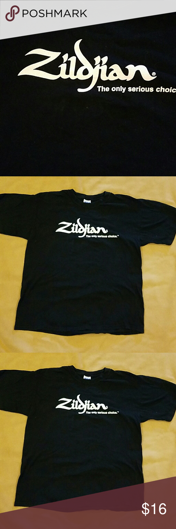 Zildjian large t shirt T shirt is printed on both sides and is good used condition.  Bundle up and save Gildan Tops Tees - Short Sleeve