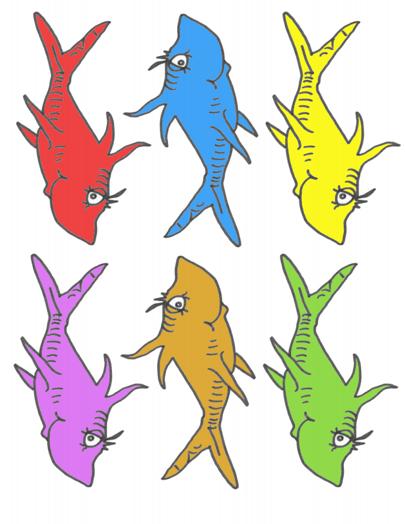 Dynamic image throughout dr seuss fish printable