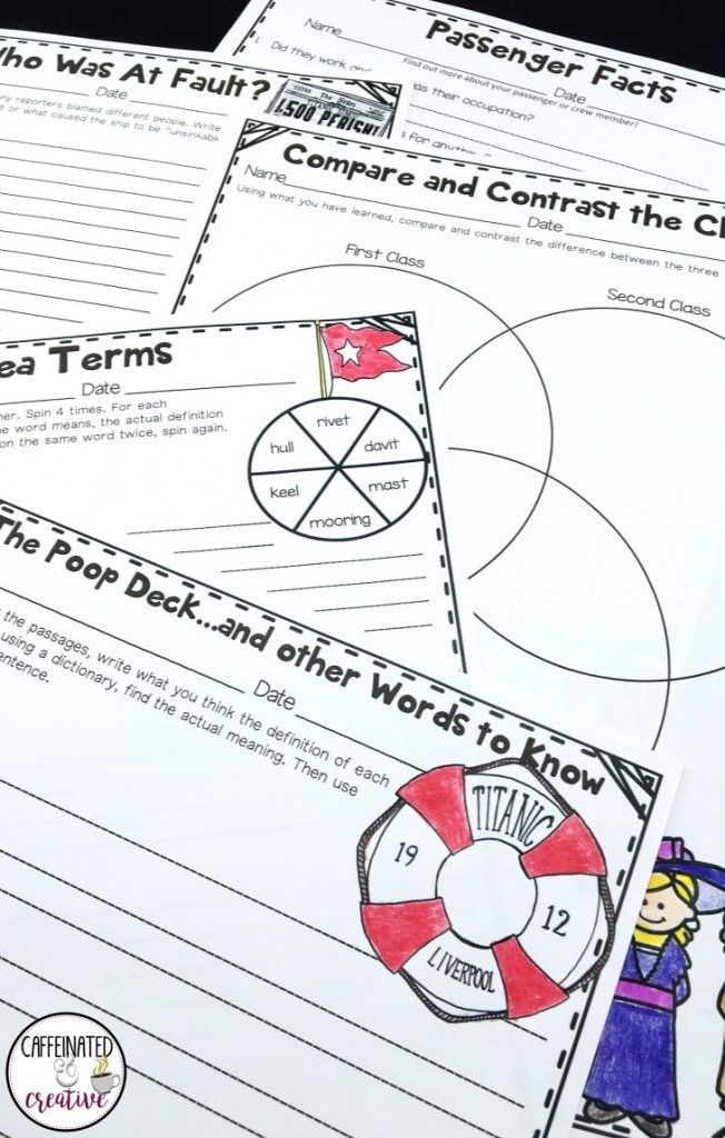 Titanic an interactive unit venn diagrams writing prompts and titanic unit comes with writing prompts vocab venn diagrams games activities ccuart Images