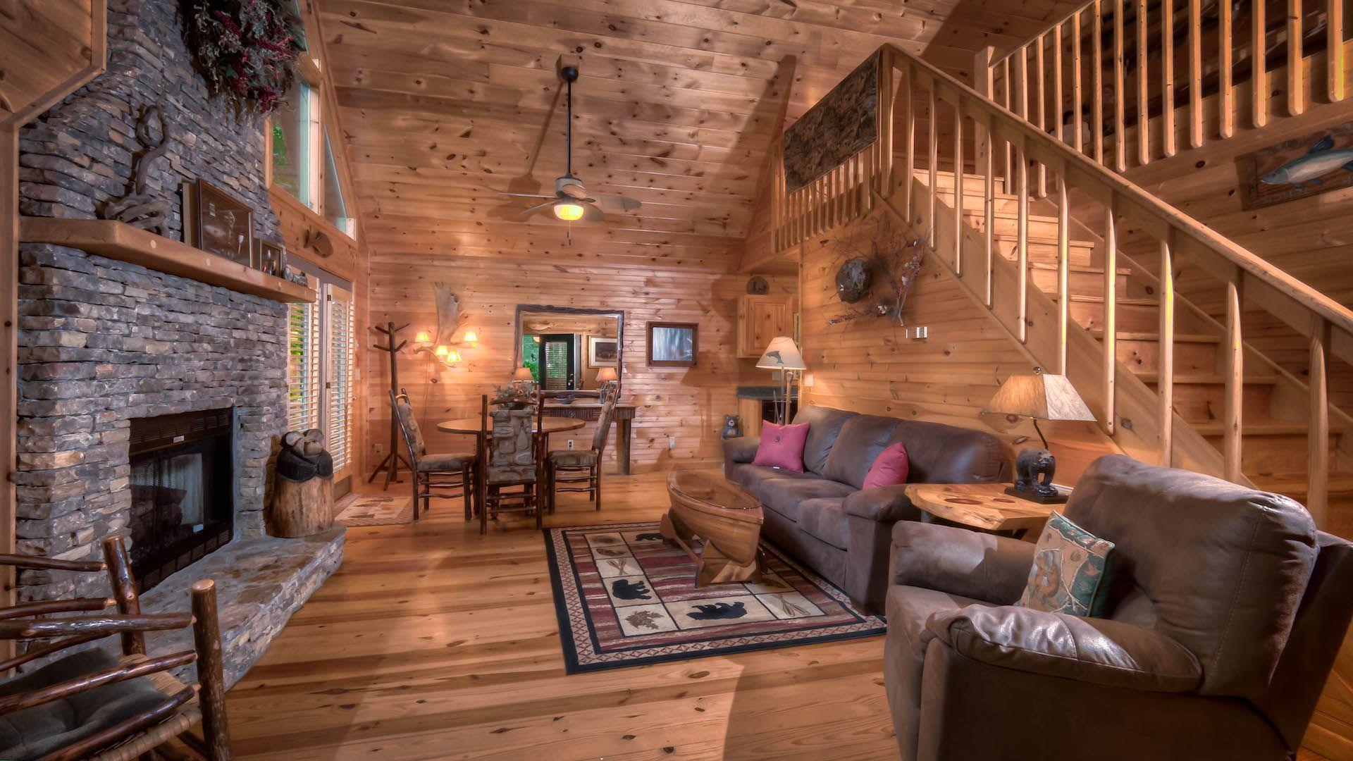 Rushing Waters Retreat Rental Cabin Mountain Top Cabin Rentals Blue Ridge Ga Hot Tub Outdoor Outdoor Wood Burning Fireplace Beautiful Cabins
