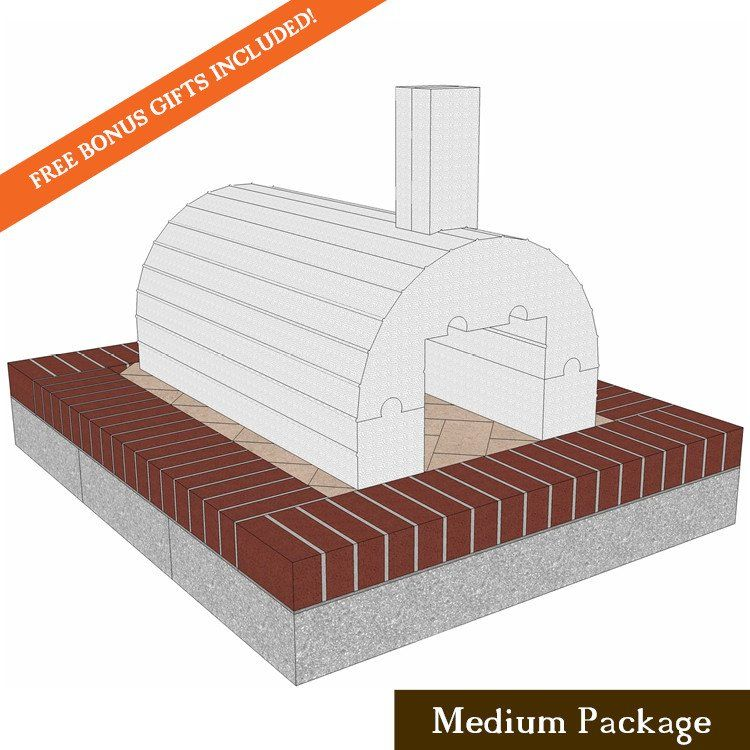 Order the BrickWood Ovens Mattone Barile Grande Medium Package today. FREE Shipping on all of our Built-In Pizza Ovens and Pizza Oven Kits.