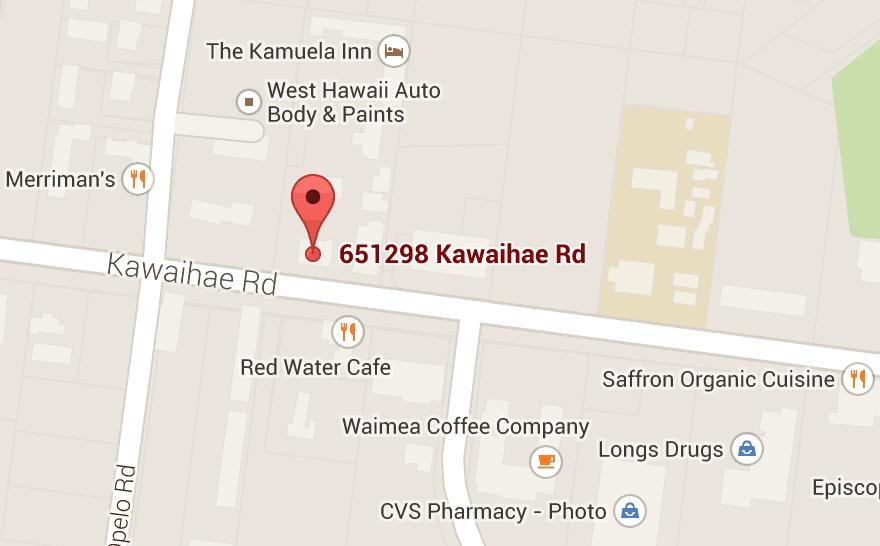 DR. VALERIE QUIJANO, D.C., B.C.C.T. Location: 65-1298 Kawaihae Road on maunaloa hi map, kailua hi map, maili hi map, hilo hi map, pahoa hi map, wahiawa hi map, kohala coast hi map, mililani hi map, koloa hi map, kaneohe hi map, kahuku hi map, waikiki hi map, waialua hi map, lanai city hi map, kalaeloa hi map, waianae hi map, kunia hi map, kona hi map, kapolei hi map, honolulu hi map,