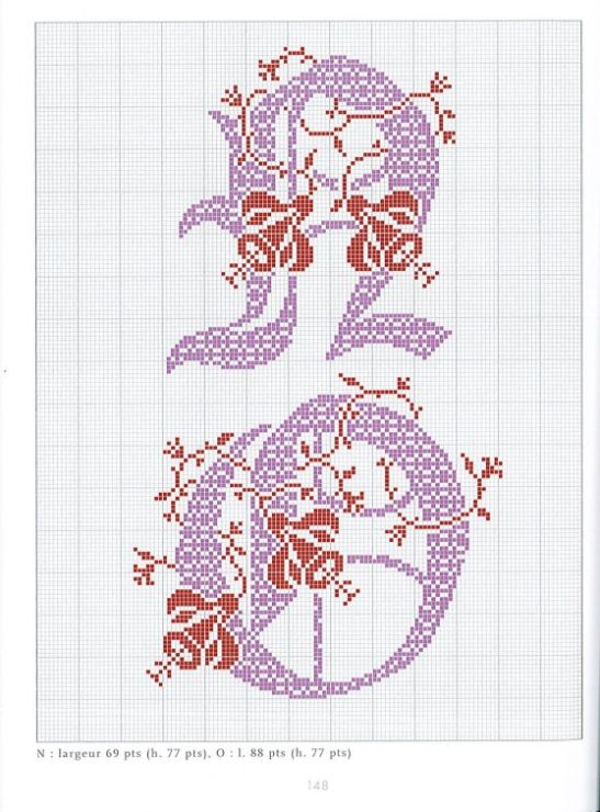 Gallery.ru / Фото #79 - Belles lettres au point de croix - logopedd