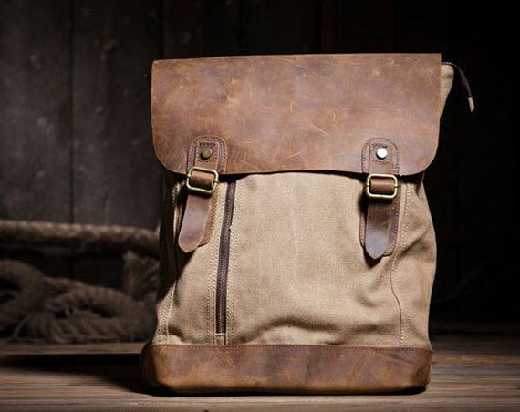 Canvas Bag Leather Canvas Backpacks | Canvas backpack and Backpacks