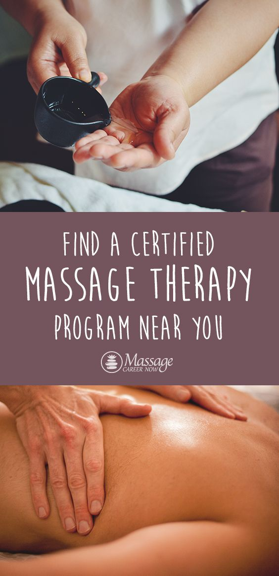 Find a certified massage therapy program near you ...