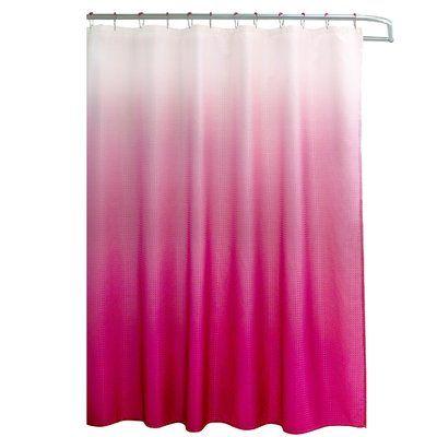 Hashtag Home Lowery Waffle Fabric Weave Single Shower Curtain