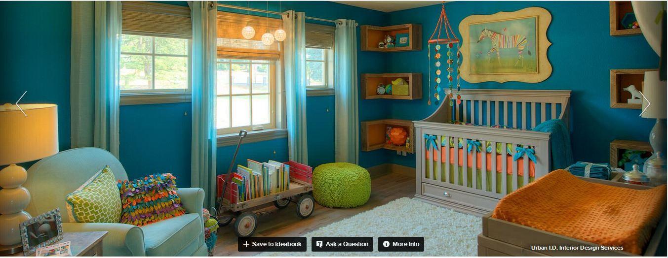 Blue Green Kids Bedroom