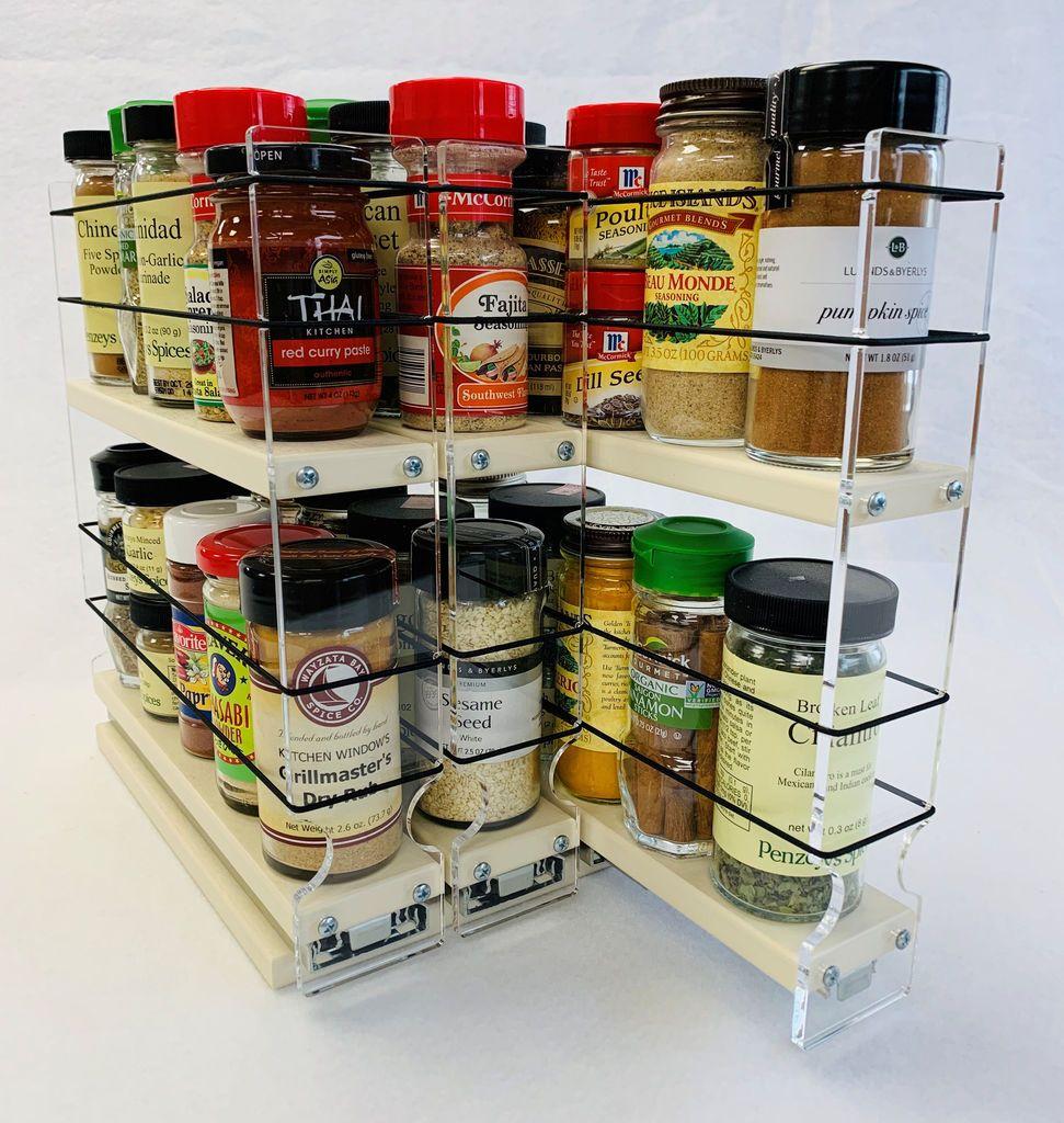 222x2x11 Spice Rack Drawer Cream In 2020 Small Kitchen Items Spice Rack Organization Kitchen Spice Racks
