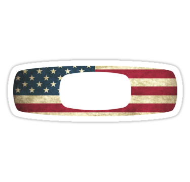 The Oakley Logo With An American Flag Background X2f The Oakley Logo Is A Registered Trademark Of The Oakley Inc Oakley Logo American Flag Sticker Oakley