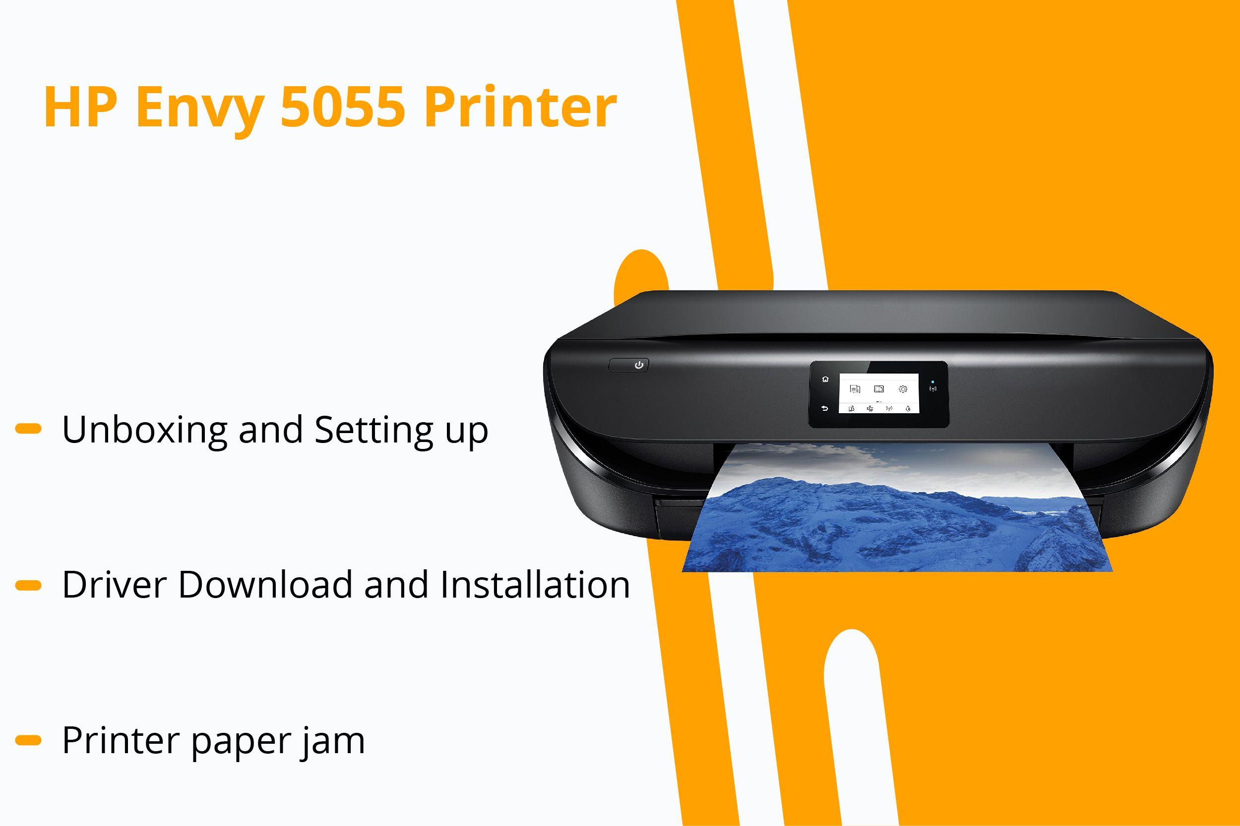 New 123 hp com/envy5055 Printer Setup, Free Driver Download Guide