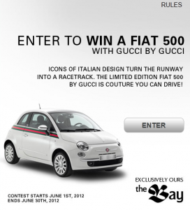Win a Fiat 500 with Gucci and The Bay