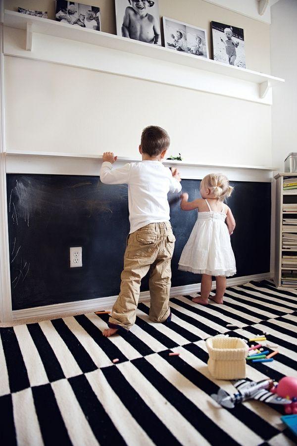 cool Modernes Deko Design für die Wohnung-25 Kreidetafel Ideen - wohnzimmer deko design