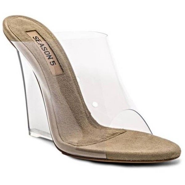 fce78009971 YEEZY SEASON 5 PVC CLEAR PLEXI HEELS MULE SIZE 6-10 KIM KARDASHIAN...  (€1.000) ❤ liked on Polyvore featuring shoes
