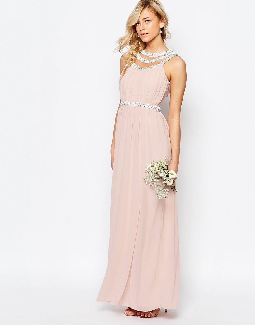 WEDDING Embellished Neck Maxi Dress - Nude Tfnc Explore For Sale Buy Cheap Looking For Cheap Affordable Visit New Cheap Online Discount 2CRkwv